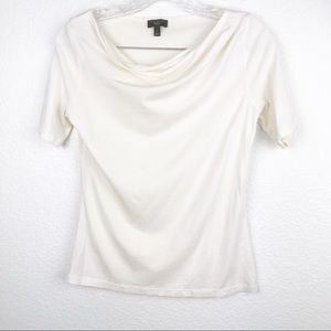 Talbots Blouse Solid White SZ P NWOT